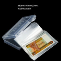 100 Paper Money Album Currency Banknote Case Storage Bag Collection & Box Holder