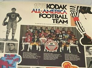 1978 KODAK ALL-AMERICAN Football Posters BILLY SIMS DAN HAMPTON KELLEN WINSLOW