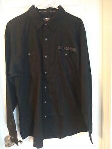 Harley Davidson 99000–11 VM Shirt Woven Shirt Men's Shirt, Size Large