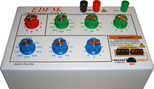 5 WATT RESISTANCE DECADE BOX w/Single Component Plug-In Receptacle