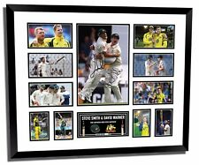 STEVE SMITH & DAVID WARNER SIGNED LIMITED EDITION FRAMED MEMORABILIA
