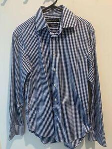 Rhodes And Beckett Long Sleeve Business Shirt Size 38/12 Slim