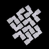 2x 4Pin L Cross Shape PCB Corner Connector For RGB 3528 5050 Led Strip Light~ES