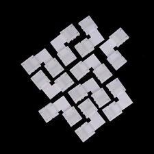 2x 4Pin L forma cruzada PCB Conector de esquina RGB 3528 5050 Led tira de luz