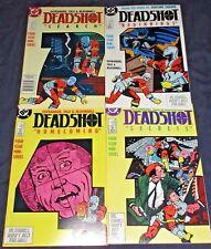 DEADSHOT #1-4 (NM-) Full Set! DC 1st Solo Series! Batman 1988 Suicide S!quad