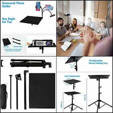 New listing Tripod Standing Desk For Laptop And Phone Holder Mount Adjustable Height Stand