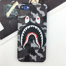 New Camo Bape Camouflage Shark Design Hard Case Cover For iPhone 6 6s 7 8 Plus X