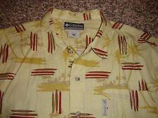 Columbia Sportswear XCO Print Shirt, Mens, Large, Short Sleeve, Palm Trees