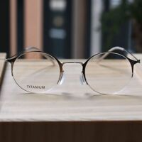 Silver Titanium Round Steve Jobs Glasses mens womens optical Eyeglasses eyewear