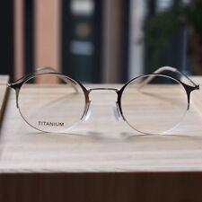 Titanium Round Steve Jobs eyeglasses mens womens silver optical RX glasses