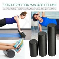 Black Extra Firm High Density Foam Roller Muscle Back Pain Trigger Yoga bM