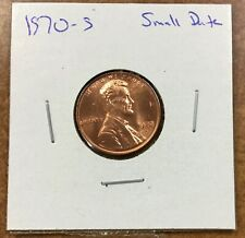 1970 S Lincoln Cent small Date BU Red Weak LIBERTY