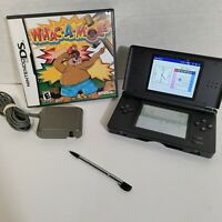 Nintendo USG001 DS Lite Handheld System - Onyx Black with Game + Ac Adapter