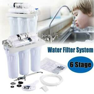 Sink Reverse Osmosis Purifier Drinking Water Filter Filtration 6 Stage System