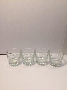 Libbey Duratuff Everest Whiskey Rock Juice Double Shot Glasses Set of Four 4oz
