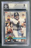 1991 Stadium Club Brett Favre #94 BGS 9 Rookie Card Packers Football, Mint!!!