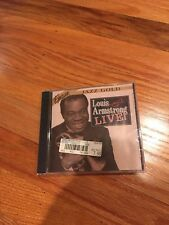 LOUIS ARMSTRONG LIVE JAZZ GOLD CD BRAND NEW SEALED