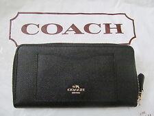 Coach F54007 Crossgrain Leather Accordion Zip Around Wallet
