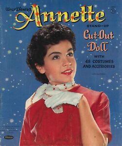 VINTAGE 1960 Annette PAPER DOLL~WHITMAN~ PRETTY HD LASER REPRODUCTION~ORG SZE