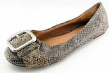 Fossil Size 7.5 M Brown Smoking Flats Leather Women Shoes