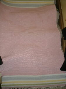 "Pottery Barn 34"" X 60"" girl pink rug carpet"