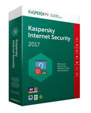 Kaspersky Internet Security 2017 2pc / Geräte 1jahr Vollversion Key