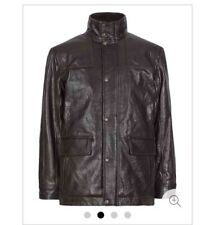 M&S Blue Harbour Mens Leather jacket Lightly Padded Oxblood