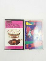 THE ROLLING STONES Let It Bleed 1969 Decca Cassette Tape Dirty Work 1968 Bundle