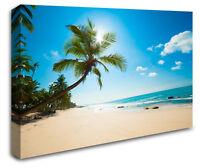 Tropical Caribean Beach Paradise Island Photo Canvas Landscape Wall Canvas RMC