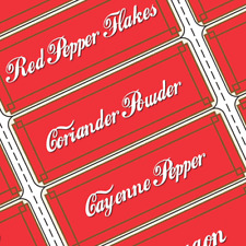 Primitive Coca Cola Vintage Antique Style Spice Rack Jars Labels Prim
