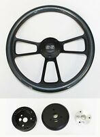 "Chevelle Nova Camaro Impala 14"" Steering Wheel Carbon Fiber on Black SS cap"