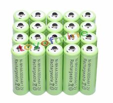 20AA 3000mAh Ni-MH rechargeable battery MP3/Cell green