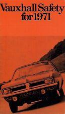 Vauxhall Safety 1970-71 UK Market Brochure Viva Victor VX4/90 Ventora Cresta
