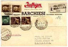 1945 - Affrancatura mista Luogotenenza/Posta Militare