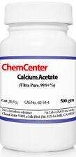 Calcium Acetate, Ultra Pure, 99% min., 1 kg (2 X 500 gm)