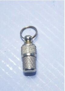 Adresshülse Messing, Adressanhänger in Silberoptik 24/26mm - 8/10mm