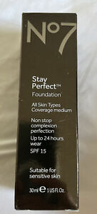 Boots No7 Stay Perfect Foundation Calico new