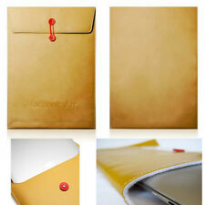 "13"" Leather Envelope Sleeve Laptop Case Bag Protector For MacBook Air 13 inch UK"