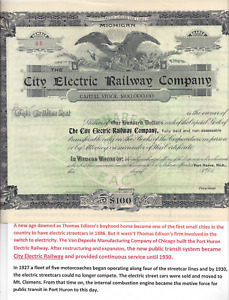 Stk City Electric Railway Co. Port Huron, MI #44 Not issued