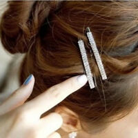 Women's Crystal Rhinestone Hair Clip Barrette Hairpin Bobby Pin Jewelry L7S