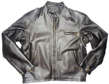 Airborne Leathers Mens Motorcycle Cafe/Moto Style Jacket Shorty Snap Collar L