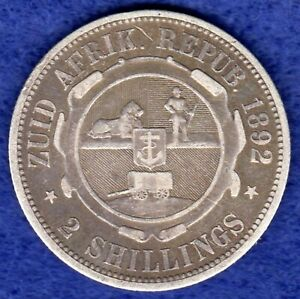 South Africa, 1892 2 Shillings, Florin (Ref. c0169)