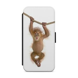 Cute Baby Monkey WALLET FLIP PHONE CASE COVER FOR IPHONE SAMSUNG HUAWEI      z71
