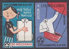 POLAND 1963 Matchbox Label - Cat.Z#436/37III set, Disney characters.
