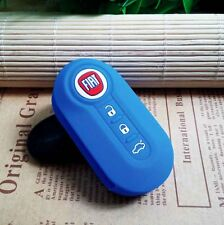 FIAT silicone key cover (Blue)