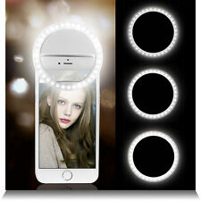 BRAND NEW RECHARGEABLE LED SELFIE RING LIGHT CLIP FOR IPHONE ANDROID TABLET UK
