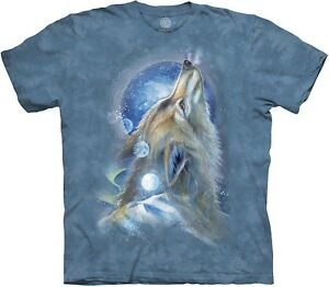 The Mountain Unisex Adult Wolf Howl Animal T Shirt