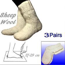 3 Pairs Wholesale Wool pale White Socks size 27-29 cm 100% Sheep Wool Handmade