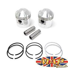 "Triumph 650 1958-Later TR6 T120 Pistons & Hastings Rings +.040"" Bore 9.5:1"