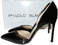 Manolo Blahnik Tayler d'Ors Patent Leather Pump Pointed Toe Stiletto Shoe 36